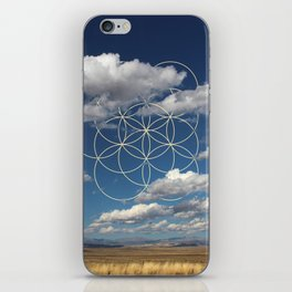 Seed of Life in Clouds iPhone Skin