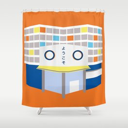 japanese mall Shower Curtain