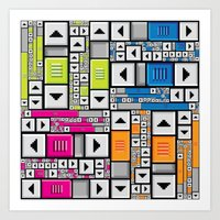 popart Art Prints featuring ScrollBar PopArt by Roberlan Borges