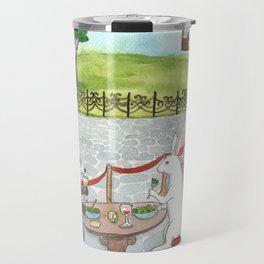 Owl and Merlot Travel Mug