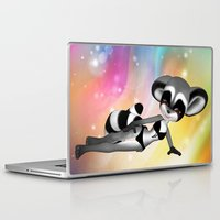 anime Laptop & iPad Skins featuring Anime Raccoon by Simone Gatterwe