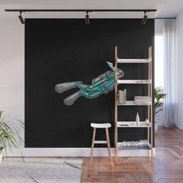 Scuba Diver Wall Mural