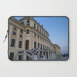 Moon rises at Schönbrunn Palace in Vienna Laptop Sleeve