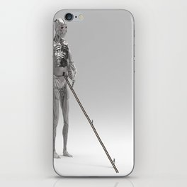 Fourarmed Lonely Bot Being Boarded by It's Controllers. iPhone Skin