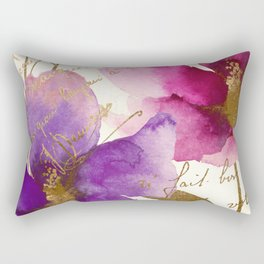 Pink and Purple Rectangular Pillow
