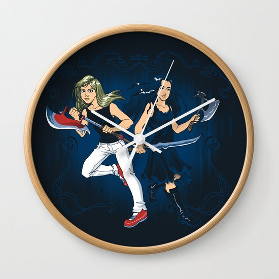 Axe Sisters Wall Clock