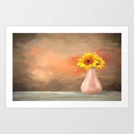 Vase of Sun....flowers Art Print