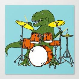 T-Rex Drummer Canvas Print