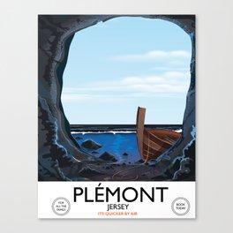 Plémont Jersey cave travel poster Canvas Print