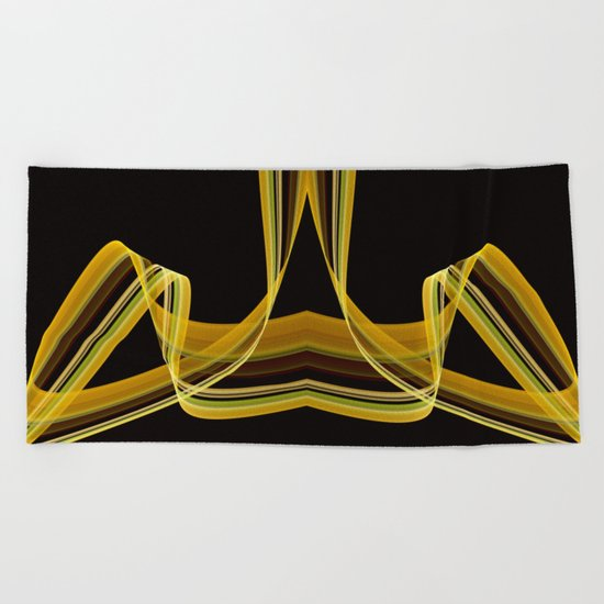 The dancing scarf Beach Towel