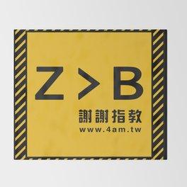 Z > B Throw Blanket