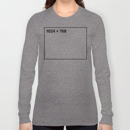 1024 x 768 black frame Long Sleeve T-shirt
