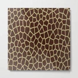 primitive safari animal brown and tan giraffe spots Metal Print