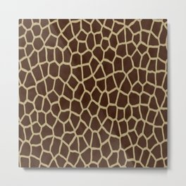 primitive safari animal brown and tan giraffe spots Metal Print