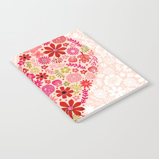 Valentines - Floral Heart Notebook