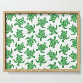 Sea Turtle in Green Serving Tray