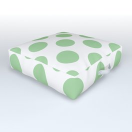 Mint Large Polka Dots Pattern Outdoor Floor Cushion