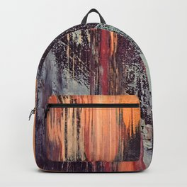 Night and Day: pretty abstract piece in orange, purple, and blues Backpack