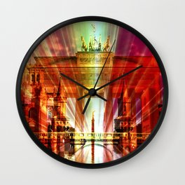 Berlin Collage Wall Clock
