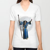 merlin V-neck T-shirts featuring Merlin  by gypsykissphotography