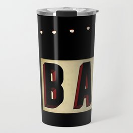 Retro Bar Sign with light bulbs Travel Mug