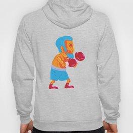 Bearded Boxer Boxing Cartoon WPA Hoody