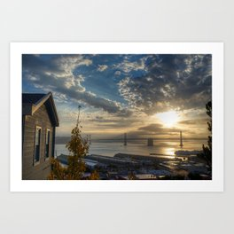 Cabin with a view at Sunrise Art Print