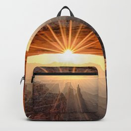 Mesa Arch Sunburst  by Lena Owens Backpack