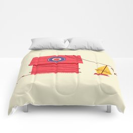 The Red Baron or Snoopy's Doghouse Comforters