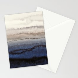 WITHIN THE TIDES WINTER BLUES by Monika Strigel Stationery Cards