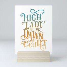 High Lady Dawn Court ACOTAR Mini Art Print