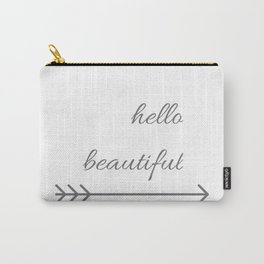 Hello Beautiful arrow ( Valentine's Day Gifts / Girlfriend Valentine Gift ) Carry-All Pouch