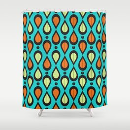 Dance With Me Mid-Century Modern Design Shower Curtain