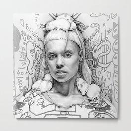 Rat Queen Metal Print