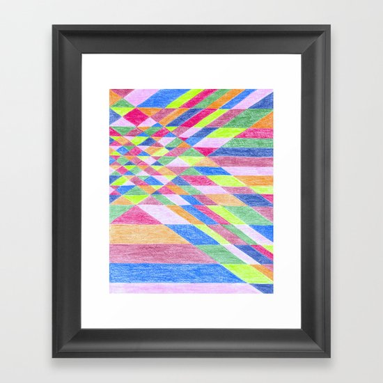 Color Grid Framed Art Print