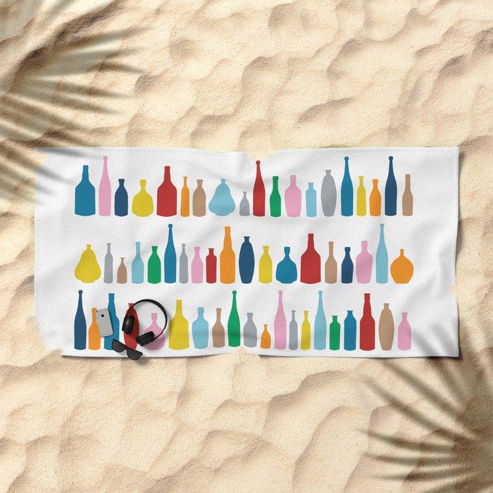 Bottles Multi Beach Towel