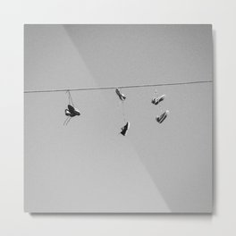 Shoes On The Line Metal Print