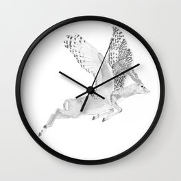 Combinations #7 - Antelope / Owl (FINAL) Wall Clock