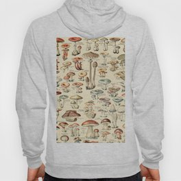 Trippy Vintage Mushroom Chart // Champignons by Adolphe Millot XL 19th Century Science Artwork Hoody