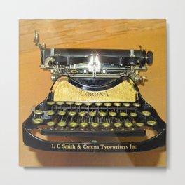 corona vintage typewriter Metal Print