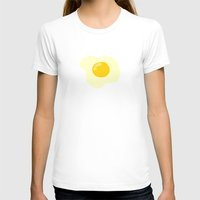 eggs T-shirts featuring Fried Eggs by Alisa Galitsyna