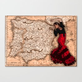 bailarína de flamenco Canvas Print