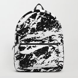 Black and White Paint Splatter Backpack