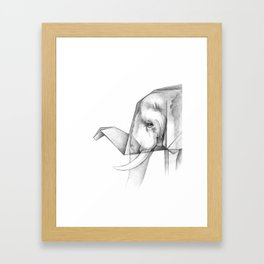 Elephant Origami Framed Art Print