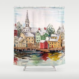 Portsmouth, New Hampshire Shower Curtain