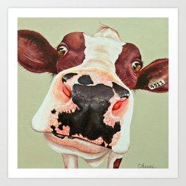 Cow Peggy Art Print