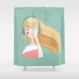 Something about music  Shower Curtain