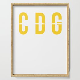 CDG - Charles de Gaulle Airport Paris France Airport Code Souvenir or Gift Design  Serving Tray
