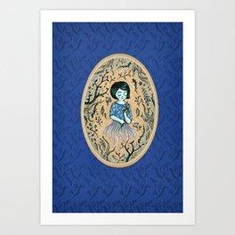 Hidden place - forest girl 2 Art Print