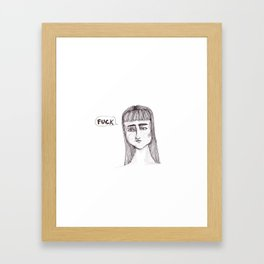 She's swearing Framed Art Print